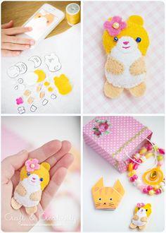 Free Felt Patterns and Tutorials: Free Felt Pattern & Tutorial > Sweet Hamster