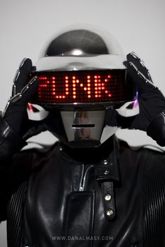Me want! Daft Punk helmet!
