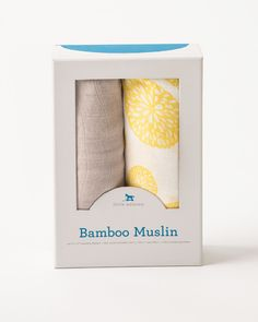 Bamboo Swaddle Set - Yellow Burst | Little Unicorn