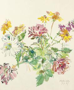 Oskar Kokoschka (1886-1980) Blumen 1967 (75,6 x 50 cm)