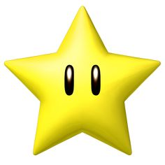 """The """"star"""" power-up, from the Super Mario Bros. series of games, first appeared in Nintendo's """"Super Mario Bros."""" for the Nintendo Entertainment System, 1985 Super Mario Party, Bolo Super Mario, New Super Mario Bros, Super Mario Birthday, Mario Birthday Party, Super Mario Brothers, Mario Und Luigi, Mario Bros., Mario Kart 64"""
