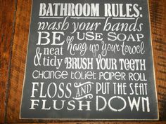 Hey, I found this really awesome Etsy listing at http://www.etsy.com/listing/90812940/primitive-rustic-farmhouse-bathroom-sign