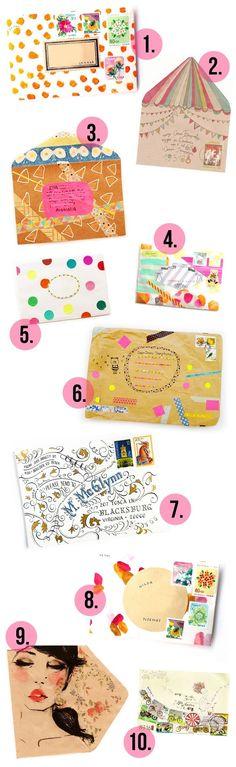 Pretty DIY envelope ideas! (plus 5 great reasons to write snail mail!)