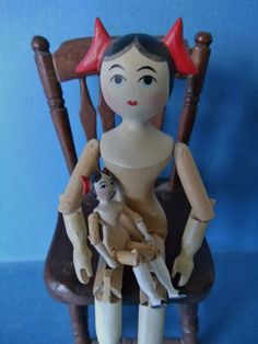 "US $645.00 Used in Dolls & Bears, Dolls, By Material4 1/4"" and 1 5/8"" tall"
