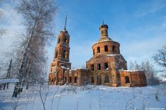 God-forsaken: Abandoned churches and cathedrals of Russia - 19 / Church of the Intercession, 18 century. The village of Klementyevo, Vladimir Oblast