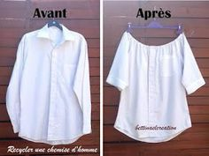 Idea Couture: What to do with a man& shirt? - Laetitia Dutertre - - Idée Couture : Que faire avec une chemise d'homme ? Idea Couture: What to do with a man& shirt?Made in France -Idea Couture: Was macht man mit einem Herrenhemd?directions in French,