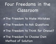 The Four Freedoms in the Classroom