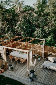 Pergola Patio, Gazebo, Backyard, Garden Deco, Terrace Garden, Outdoor Living, Outdoor Decor, Green Garden, Outdoor Gardens