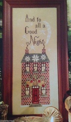 Blackbird Designs - Loose Feathers #11: To All A Good NIght! OOP Sampler design!