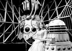 Deborah Watling on the set of Evil Of The Daleks. Sci Fi Tv Series, William Hartnell, Through Time And Space, Dalek, Time Lords, Dr Who, Doctor Who, Tardis, My Best Friend