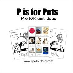 Pet Theme Unit Resources for Pre-K - great ideas  and printables included!