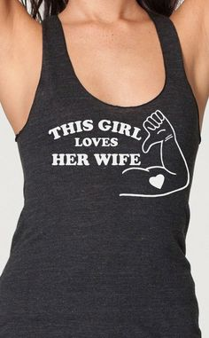 This Girl Loves Her Wife gay pride lesbian by EconomyGrocery, $16.95