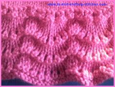 A tad smitten with this edging and think it would be great on a baby blanket.  Pink Scallop Edge Skirt - Very Cute Girls' short skirt knitting pattern