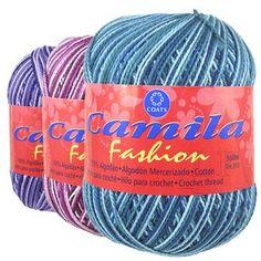 Fio Cisne Camila Fashion - 500m crochê agulhas niquelada Milward 1,75 mm.Agulhas tricô de alumínio Corrente 3 e 3,5.Ótima para macrame.
