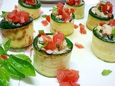 ズッキーニのカラフル前菜サラダ