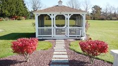 Love this Gazebo that has electric and cable tv!  Near new Colonial on 2.36 acres for sale at 84 Walt Dr, Meriden, CT