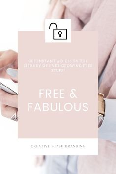 You'll find a Fabulous stash off freebies & online resources, you can download right away.