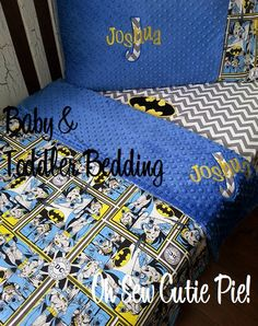 batman dc comics superhero nursery bedding, baby & toddler custom