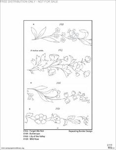 Buttercup border embroidery pattern