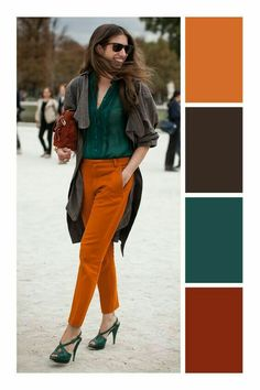 How to combine Laranja – Color matching – … - Kleidung Colour Combinations Fashion, Color Combinations For Clothes, Fashion Colours, Colorful Fashion, Color Combos, Combination Colors, Fall Color Palette, Colour Pallete, Cool Winter
