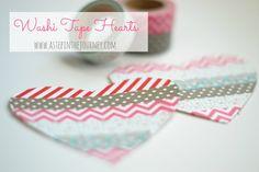 Homemade Valentines washi tape