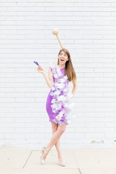 How To Make A Rock Candy Costume | studiodiy.com Candy Halloween Costumes, Food Costumes, Pop Culture Halloween Costume, Diy Costumes, Adult Costumes, Costumes For Women, Costume Ideas, Homemade Costumes, Family Costumes