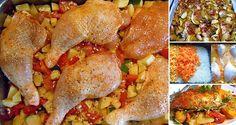 Chcete si pripraviť hlavné jedlo s prílohou naraz z jedného pekáčika? Vyskúšajte tieto recepty, ktoré vám uľahčia a skrátia prípravu. Na týchto obedoch si pochutí celá rodina. Chicken Wings, Low Carb Recipes, Food And Drink, Menu, Snacks, Dishes, Ethnic Recipes, Stuffed Pepper, Noodles