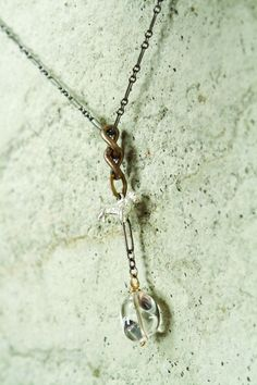 Mark Edge - Oxy Sterling Silver/Rock Crystal Necklace
