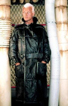 Rutger Hauer as Roy Batty on the set of Ridley Scott's Blade Runner (1982)