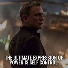 The ultimate expression of power is self control - Volcano