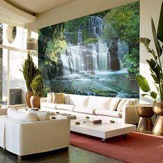 Fotobehang Pura Kanui Falls - Landschappen behang | Muurmode.nl