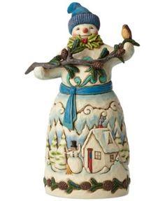 Jim Shore Snowman Holding Pinecones Collectible Figurine  E2 99 A5 E2 99 A5 E2 99 A5 Disney Figurines