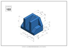 Autocad Isometric Drawing, Orthographic Drawing, Technical Drawing, My Drawings, Exercises, 3d Modeling, Cad Drawing, Dibujo, Drawing Drawing