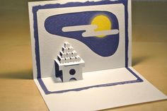十五夜 full moon [Origamic Architecture , Pop up card , kirigmi , 折り紙建築 , ポップアップカード]