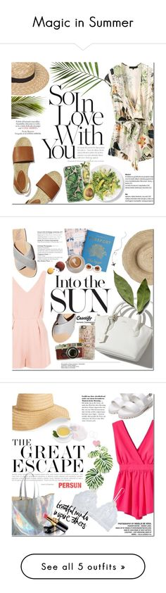 """""""Magic in Summer"""" by dian-lado ❤ liked on Polyvore featuring Casetify, summertime, summerstyle, summeroutfit, TropicalVacation, summerstaples, Topshop, Wildfox, Oysho and David & Young"""
