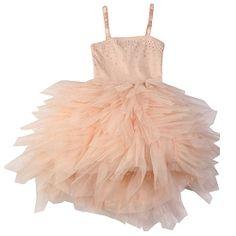 Ooh! La, La! Couture Pink Champagne WOW Swarovski Devin High Low Dress