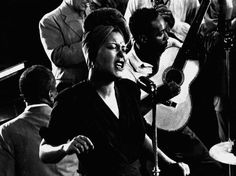 love this closeup of Billie Holiday on fine and mellow with james p. johnson on piano. photo © Gjon Mili / LIFE