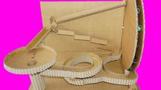 How to Make machine marble rolling from Cardboard - Marble run Machine w...
