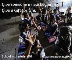 Give someone a new beginning this Christmas. Give a Gift for Life. http://www.tlmtrading.com/categories/gifts-for-life/