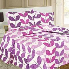 Spruce up your summer bedroom with this Texture Leaf Duvet Cover Set - #bedding