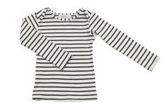 organic cotton striped nautical tees - natural/charcoal