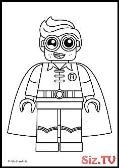 Coloring Pages For Kids Lego Robin From The Lego Batman Movie