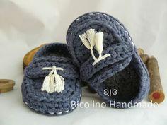 Crochet baby Mocassini