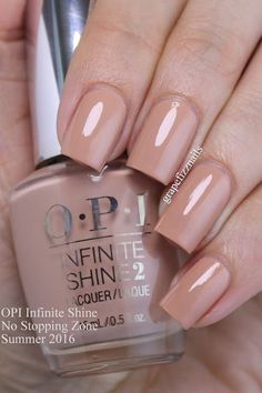 opi infinite shine No Stopping Zone is a lovely dusty pink with beige undertones
