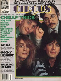 CIRCUS' Nov. 27, 1979 issue; contents in HD: https://flic.kr/p/21gJYgk  #CheapTrick #ACDC #RockyHorrorPictureShow #TheRose #WKRPInCincinnati