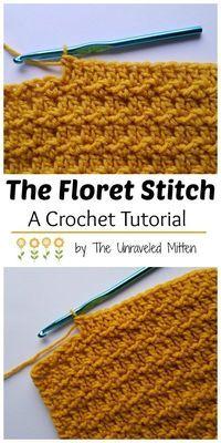 Floret Crochet Stitch | Free Crochet Tutorial | The Unraveled Mitten | Textured | Unique | Crochet Stitches | Easy | For Beginners #crochet #crochetstitch #freecrochetpattern