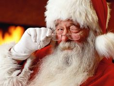 Winking Picture Of Santa Claus