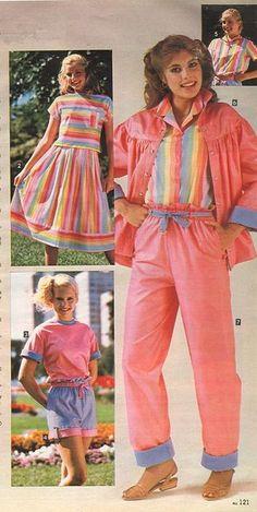 ✭Sassy's Temper – A Sears Catalog – and a New Mom✭ 80s Girl Fashion, 1980s Fashion Trends, Retro Fashion, Vintage Fashion, Fashion Outfits, 1980s Kids Fashion, Preppy Fashion, Style Fashion, Retro Outfits