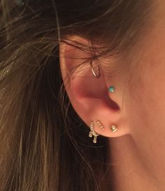 Venus By Maria Tash In My Rook And Third Lobe Neometal Tragus