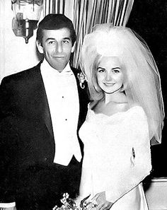Lou Adler & Shelley Fabares on their wedding day, 1964. They separated in 1966, but didn't divorce until 1980.